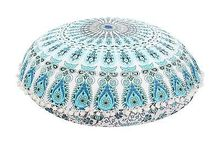 32in Round Mandala Tapestry Floor Pillows Case Cover Meditation Cushion Covers Ottoman Poufs Retro Ethic Cushion cover(China)