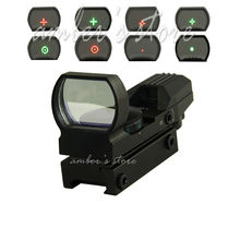 Free Shipping Hunting Tactical 20mm/11mm Holographic 1x22x33 Reflex Red Green Dot Sight Scope(China)