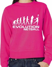 Evolution Of Netball Sweatshirt/Jumper Unisex Birthday Gift Gift More Size And Colors-E237(China)