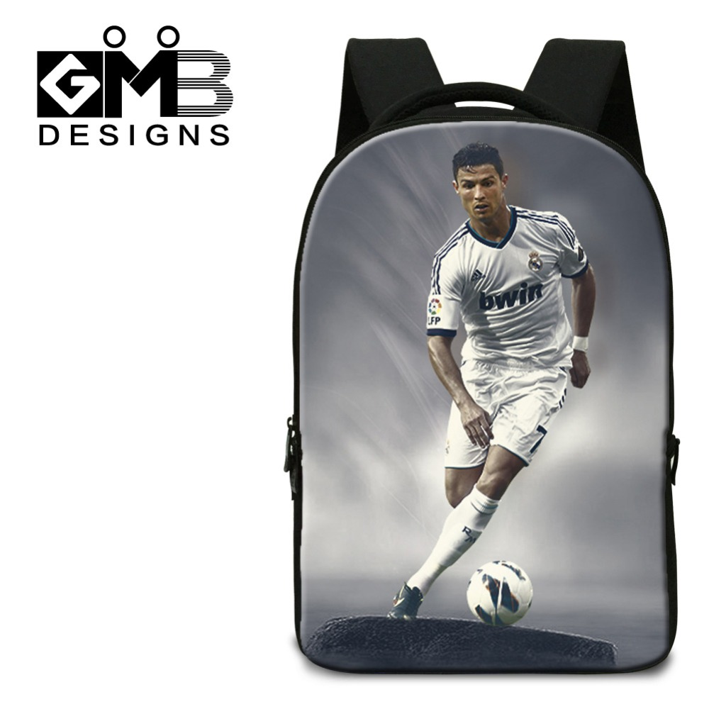Cristiano Ronaldo Laptop Backpack for Boys,Cool College Ball Back pack,Computer Bag for Men traveling,Student characters bookbag<br><br>Aliexpress