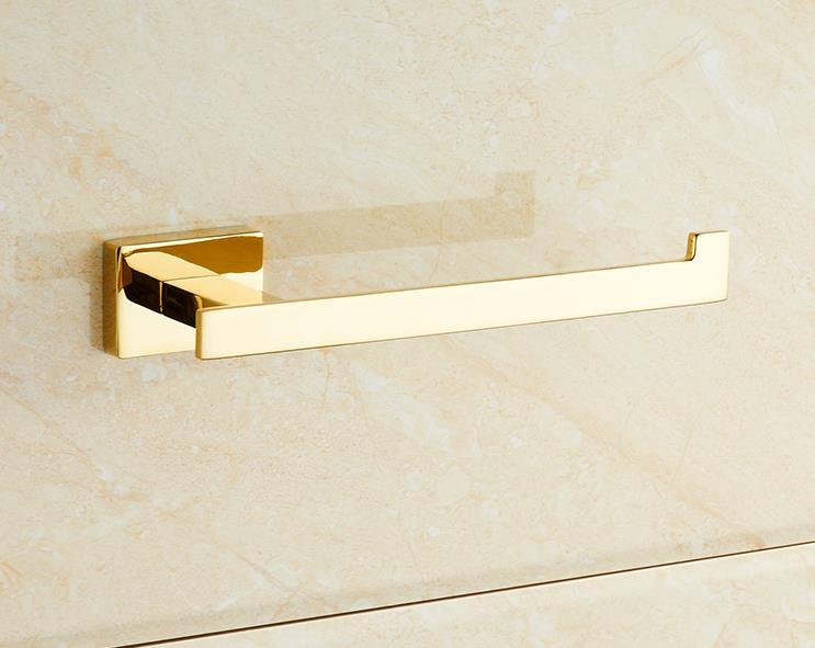 Golden Toilet Paper Holder Bathroom Accessories Bath Towel Ring - No Cover<br><br>Aliexpress