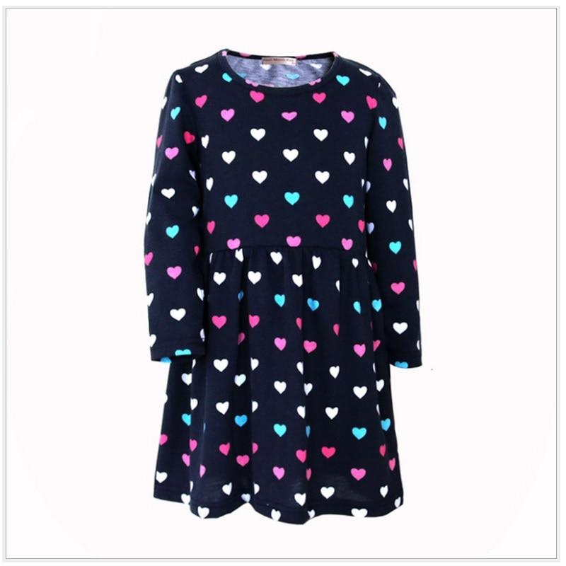 Сердце Платья с <em>куфар одежда для девочки 6 лет</em> принтами для девочек сине-белые в полоску Детские платья из 100% хлопка для маленьких девочек Джемперы 2 3 4 5 6 7 8 лет девушка оде...(China)