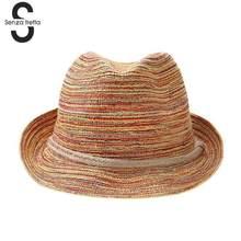 Colorido paja sombreros de Sol de moda las mujeres del sombrero del sol del verano  sombreros de paja playa al aire libre femenin. 76cc57450b0