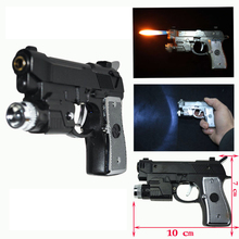Electric Shock Led Pistol lighter Gun toy 3 in 1 function Joke Prank Trick Funny toy
