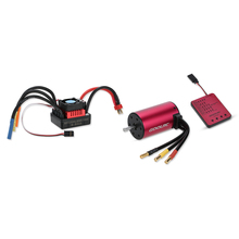 Original GoolRC S3660 3800KV Sensorless Brushless Motor 80A Brushless ESC and Program Card Combo Set for 1/10 RC Car Truck
