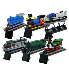 Lepin 21029 Creator Train 50 Years on Track Block Set Compatible with 4002016 Kids Toy 1176Pcs(China)