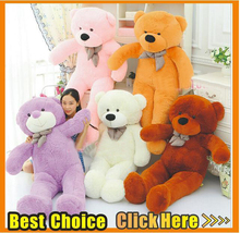 5Colour Dolls Toy 160cm 180cm 200cm 220cm Giant Teddy Bear Plush Toys Stuffed Teddy bear Gifts for Kids Girlfriends Christmas(China)