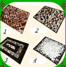 2018 free shipping 1 piece via DHL 100% natural cow leather floor mats for hardwood floors(China)