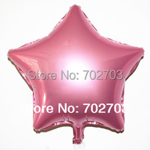 50pcs Toy wedding party Birthday Party Inflatable pearl pink star Ballons Aluminum Foil Balloon
