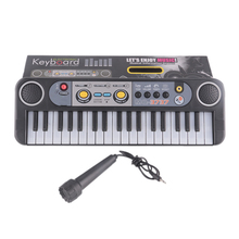 Musical Instruments Gifts Mini 37 Keys Electone Keyboard Toys With Microphone Learning Educational Toys For Children Beginners(China)