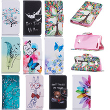 Luxury PU Leather Back Cover Case Protective Shell For Huawei Y3 2 II Clamshell Wallet Flip Phone Case With Card Holder