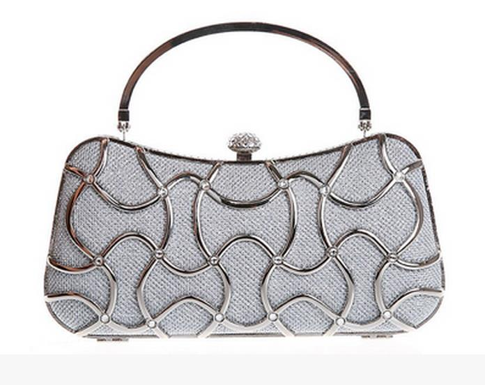 Hollow Design Womens Evening Bag Clutch Handbag Wedding Party Shoulder Bag Purse<br>