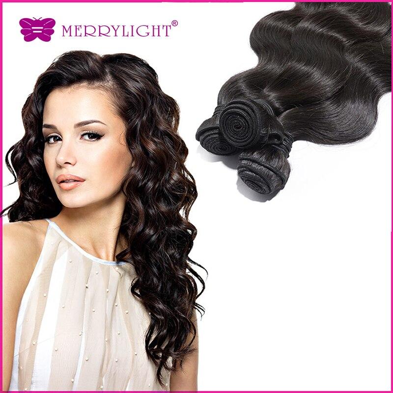 Tissage Bresilienne Virgin Human Hair Body Wave 3Pcs/Lot Mixed Length Virgin Hair extension Merrylight Hair<br><br>Aliexpress