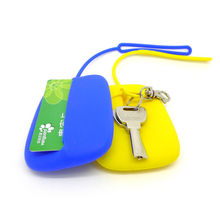 1Pc New Multifunctional Women KeyChain Hasp Style Silicone Pouch Card Bag Case Perfect Gift Key Holder Key Ring for Shopping(China)