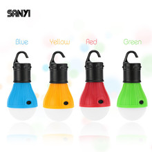 Portable Hanging Tent Camping Light Soft Light LED Bulb Waterproof Lamp Lanterns Night Lights Used By 3*AAA Battery Flash Light