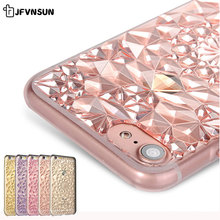 Luxury Clear TPU Case for iPhone 6 6S 7 plus SE 5 5S Cover NEW Bling 3D Crystal Flower Henna Mandala Pattern Soft Silicon Fundas