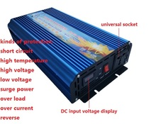 continuous maximum rated power 2500W Inverter DC12V/24V/48V to AC220V Pure Sine Wave Inverter 5000W Peak Power