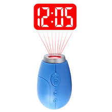 Mini LED Projector Clock Luminous Watches & Clocks Plastic Flashlight Clock Electronic Movement Projection Clock Keychain(China)
