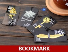 Vintage silver plated snowflake bookmarks , golden plated Key / Feather / Palm Tree metal bookmark / book holder / book clips