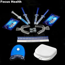 Teeth Whitening Kit With 4 Gel 2 Strips 1 Light 1 Box Tooth Whitener Bleach Bright White 3D Oral Hygiene Dental Care Bleaching