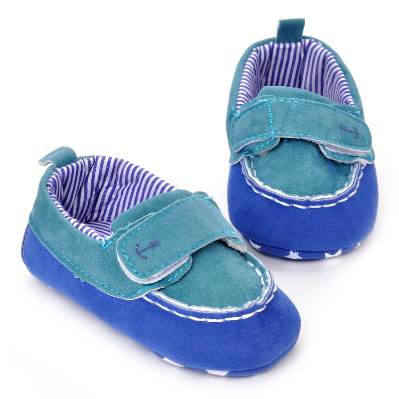17 Fashion Newborn Baby Girl Boy Shoes Soft Sole Infantil Toddler Baby Boy Sneakers Blue Baby Mocassins Crib Peas Flock Shoes 17