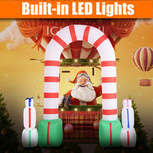 8 Ft Waterproof Inflatable Santa Arch Christmas Decoration Outdoor Lawn Yard Art  CM19560