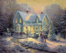 Thomas Kinkade Prints Painting Pinocchio Wishes Upon Star Canvas Painting Ideas Realistic Abstract Painting Home Decoratio RQ05(China)