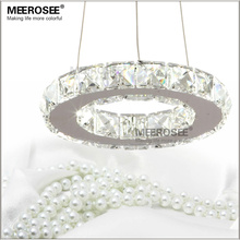 LED Crystal Chandelier Light for Aisle Porch Hallway Stairs Crystal Ring dining light wth LED Light Bulb 8 Watt 100% Guarantee(China)