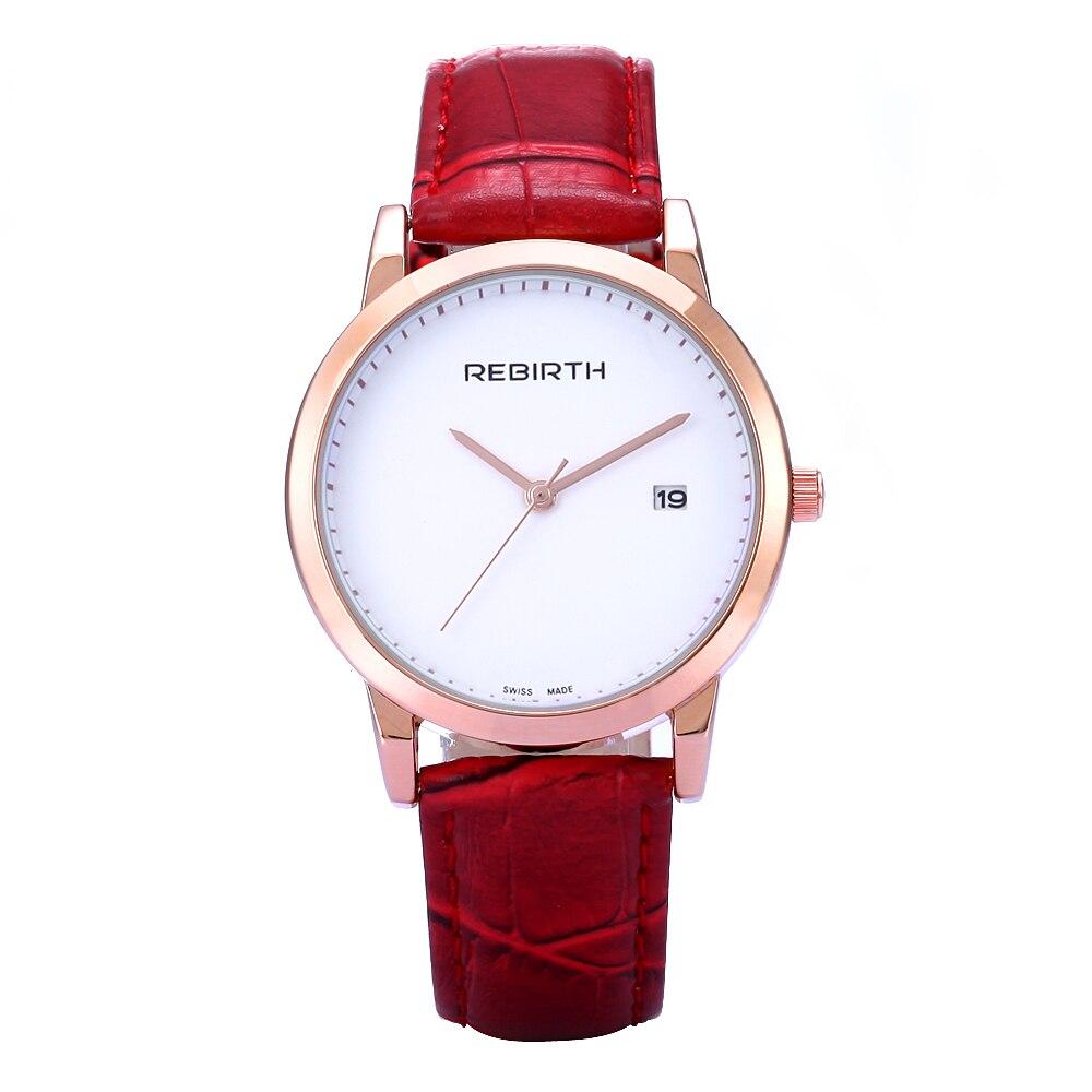 Rebirth Lady Watch Top Brand Luxury Classic Casual Leather Relogio Feminino Womens Quartz wristwatches Reloj Mujer Calendar<br><br>Aliexpress