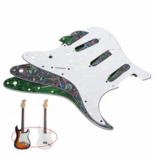 3ply Electric Bass Guitarra Guitar Pickguard For Ukulele Musical Instruments Parts Accessories(China)