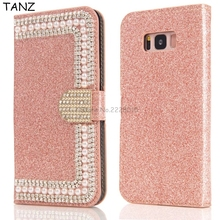 Buy TANZ Bling Diamond Pearl Wallet Flip Leather Case Samsung Galaxy S5 S6 S7 edge S8 plus J3 J5 J7 S3 S5 note 8 Phone Cover for $5.06 in AliExpress store