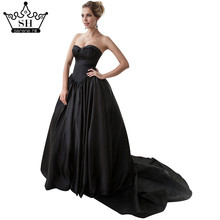 Black  Ball Gown Wedding Dress Bridal Dress robe de mariage mariee princesa wedding dresses 2017 wedding gown