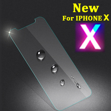 Sinzean 100PCS NEW Arrival For iphone X 5.8inch Tempered Glass screen protector in OPP bag only free DHL