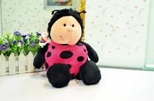 Discount Hot Sale Nici plush toy stuffed doll Pink Ladybug Ladybird lover christmas birthday gift 35cm 1pc(China)