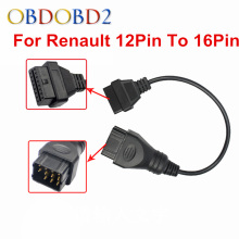High Quality For Renault 12Pin To 16Pin Adapter OBD OBDII Diagnostic Connector For Renault 12 Pin Cable Three Years Warranty(China)