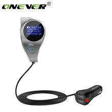 Onever FM Transmitter Wireless Bluetooth HandsFree FM Modulator Radio Adapter MP3 Audio Player AUX Port Support TF SD USB Flash(China)