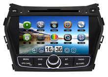 2 Din 8 inch car dvd player for Hyundai IX45 Santa FE 2013 2014 with GPS Navigation Bluetooth Radio Stereo TV 3G Free maps