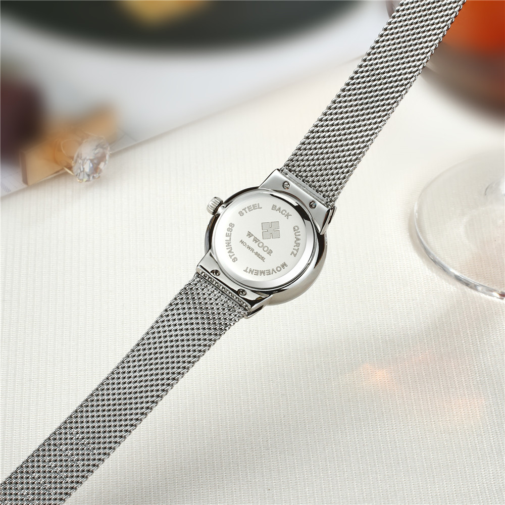 Luxury Brand Women Watches Fashion Casual Quartz Watch Women Small Dial Rhinestones Design Steel Mesh Bracelet Ladies Wristwatch