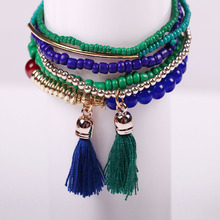 Manufacturers selling all kinds of ms crystal bracelet women tassel bracelet handmade Christmas gifts Can wholesale