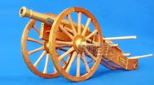Free shipping  Assembly wooden Model kits 1:20 12 pounds cannon at Napolen period Bronze cannon wooden  scale model kits