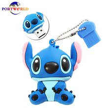 USB 3.0 Stitch Pen Creative 32GB USB Stick 64G USB Memory Drive Lovely 16G USB Cartoon Flash Drive Animal
