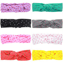 TINSAI Hair Bows 8 color wave Chinese knot children's Hair band Baby photography headgear accessories New Infant Hair Weave Band