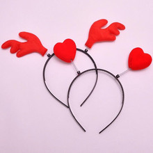 Lovely Red Love Heart Headband For Children Girls Princess Hairpins Hair Decorations Dress Up Party Headwear