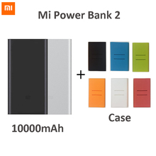 In Stock! 2016 New Original Xiaomi power bank 10000mAh 2nd external battery 2 pack portable charger USB output For phones pad