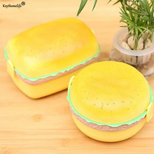 Buy Keythemelife Double Layer Children Hamburger Shape Bento Lunch Box Food Container Storage Lunchbox Kid School 4D for $6.99 in AliExpress store