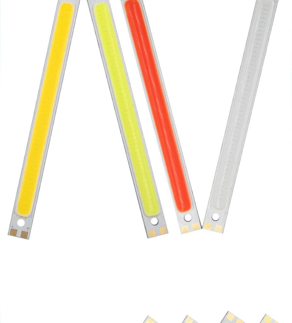 120mm 12v 10w 1000LM cob led light strip chip bulb lamp red blue white (7)