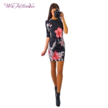 Robe New 2017 Russian Clothing Trend Summer Dress Woman Printing Pack Hip Mini Cozy Breathable Top Fabric Large Size 8 Colors
