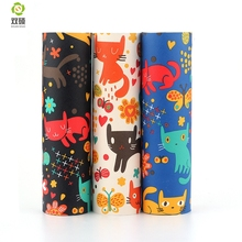 Printing Cat PU Synthetic Leather Fabric, DIY Handmade Leather Fabric  For Handbags, Luggage  Sofas Lamps High Quality 3pcs/lot