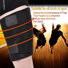 Breathable Thigh Support Brace Knee Pads Pain Relief Muscle Protector Sports Leg Sleeve Groin Thigh Support Brace Wrap Bandage(China)