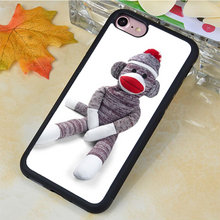 Sock Monkey Doll Stuffed Doll Printed Soft Rubber Phone Cases For Samsung S4 S5 S6 S7 edge plus Note 2 Note 3 Note 4 Note 5
